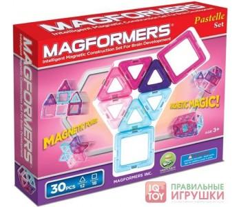Магнитный конструктор MAGFORMERS 30 пастель (63097)