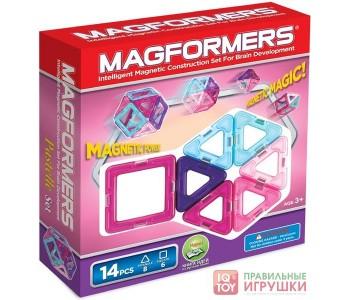 Магнитный конструктор MAGFORMERS 14 пастель (63096)